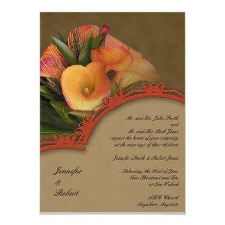 "Fall Cala Lily Bouquet 5"" X 7"" Invitation Card"
