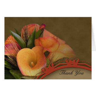 Fall Cala Lily Thank You Cards
