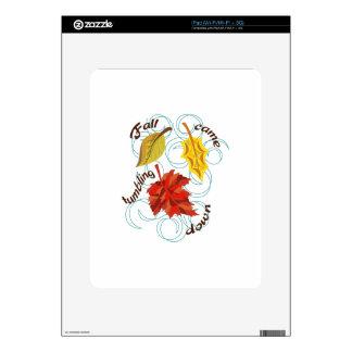 Fall Came Tumbling Skin For iPad