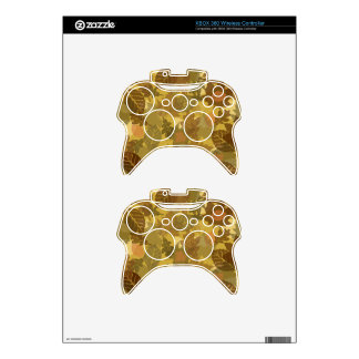 fall camo leaves pattern xbox 360 controller decal