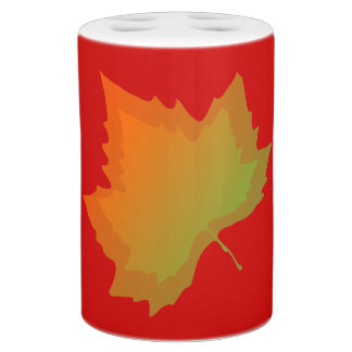 Fall Canadian Maple Leaf Autumn Season Toothbrush Holders