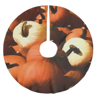 Fall Cart of Pumpkins Brushed Polyester Tree Skirt