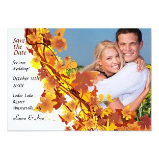 "Fall Cascade Save the Date Announcement 5"" X 7"" Invitation Card"