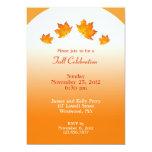 "Fall Celebration Flat Invitation 5"" X 7"" Invitation Card"