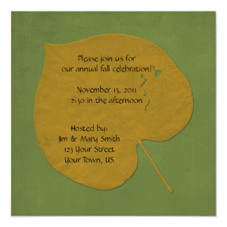 Fall Celebration Invitation