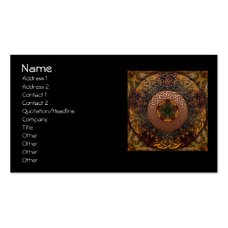 Fall Celtic Knot Circle Business Cards