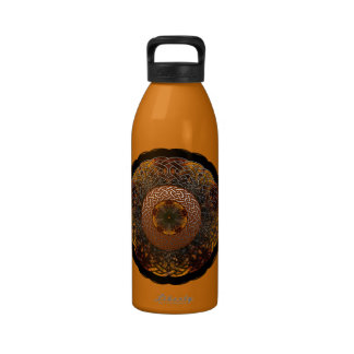 Fall Celtic Knot Circle Water Bottle