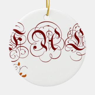 fall ceramic ornament