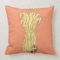 Fall Chipmunk And Haystack Pillow