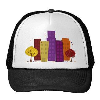 Fall Cityscape Trucker Hats