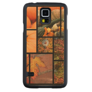 Fall Collage Carved Maple Galaxy S5 Slim Case