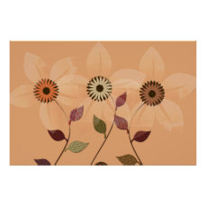 Fall Collection Abstract Autumn Collage Poster