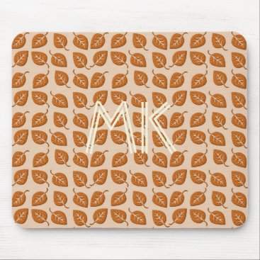 Beach Themed Fall Collection  Bright Orange Leaf  Mousepad