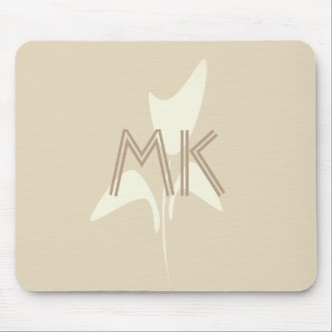 Beach Themed Fall Collection  Flower Floral Logo Mousepad