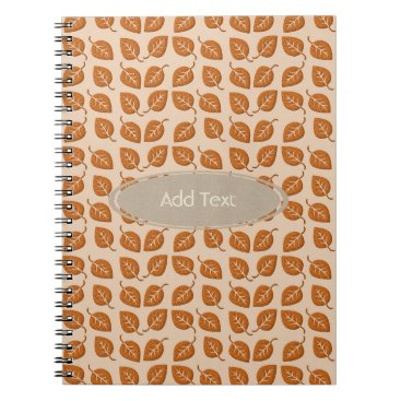 Beach Themed Fall Collection Leaf Pattern Journal