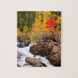 Fall color along Bishop Creek, CA Jigsaw Puzzle