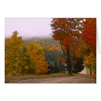 """""""FALL COLOR ALONG COUNTRY ROAD"""" MICHIGAN LOCALE CARD"""