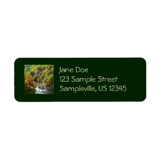 Fall Color at Ohiopyle State Park Nature Photo Return Address Label