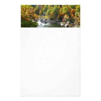 Fall Color at Ohiopyle State Park Nature Photo Stationery