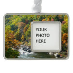 Fall Color at Ohiopyle State Park Silver Plated Framed Ornament