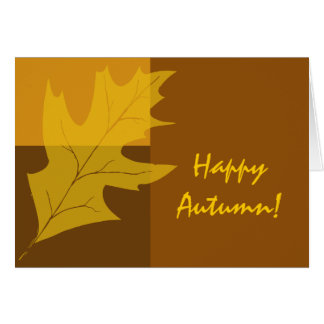 Fall Color Block Happy Autumn Card