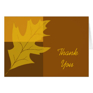 Fall Color Block Thank You Note Card