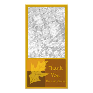 Fall Color Block Thank You Photo Card