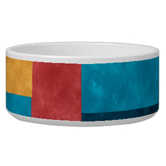 Fall Color Blocks Pet Bowl