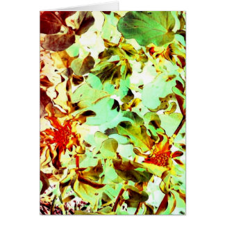 Fall Color Garden Impression Art Photo Blank Insid Greeting Card