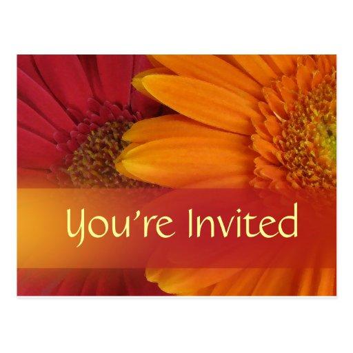 Fall color invitation postcard