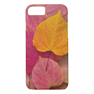 Fall color on Forest Pansy Redbud fallen iPhone 8/7 Case