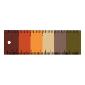 Fall Color Stripes Ruler