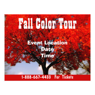 Fall Color Tour Halloween Event  Fall Event Flyer