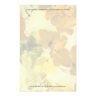 Fall colored flowers stationery