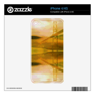 Fall Colored Landscape Overlay with Bridge Decals For The iPhone 4S