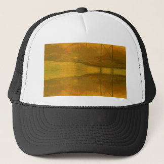 Fall Colored Landscape Overlay with Bridge Trucker Hat
