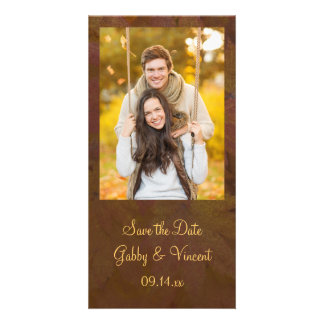 Fall Colored Maple Leaves Wedding Save the Date Card