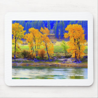 Fall Colors along Clarkfork river Mouse Pad