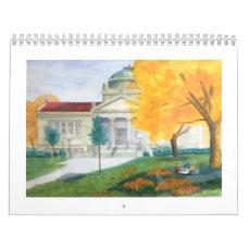 fall colors at library park Kenosha Wisconsin Calendar