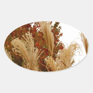 Fall Colors Autumn Season Nature Photography Oval Sticker