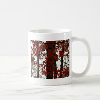 Fall Colors Autumn Trees Red Canadian Maple Leaves Coffee Mug