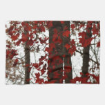 Fall Colors Autumn Trees Red Canadian Maple Leaves Towel