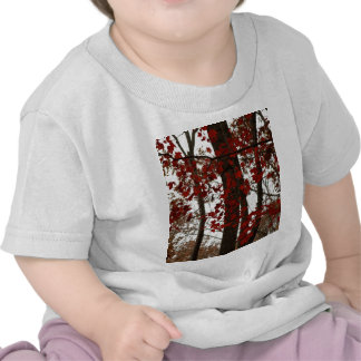 Fall Colors Autumn Trees Red Canadian Maple Leaves Shirts