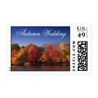 Fall Colors, Autumn Wedding Postage