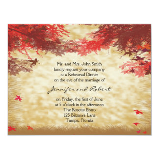 Fall Colors: Burgundy and Red Branches Invite