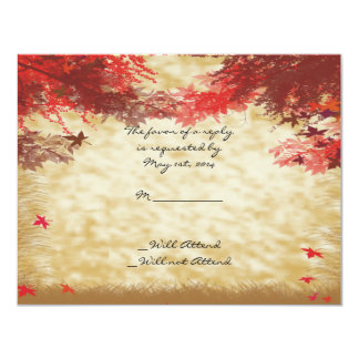 Fall Colors: Burgundy and Red Branches Response Custom Invite
