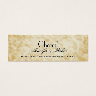 Fall Colors: Burgundy and Red Wedding Drink Ticket