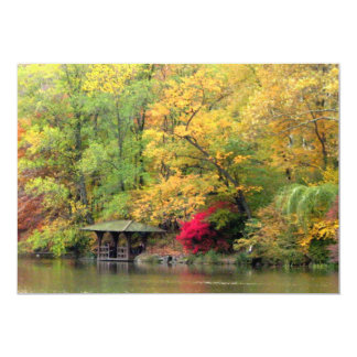 Fall Colors by the Lake Central Park 5x7 Paper Invitation Card