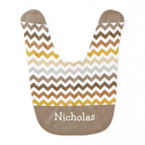 Fall Colors Chevron Bib