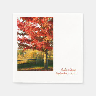 Fall Colors Country Wedding Paper Napkins